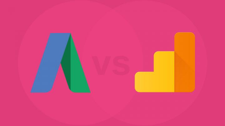 Google AdWords icon vs Google Analytics icon