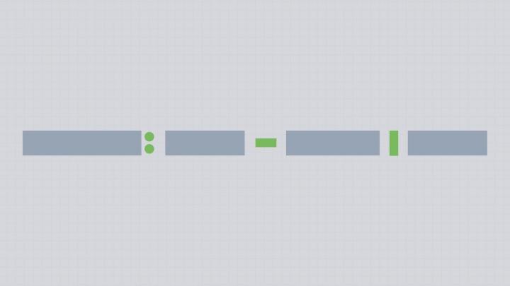 Representative blocks of text with separator symbols