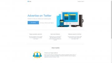 Twitter Ads homepage