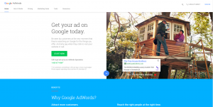 AdWords homepage