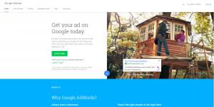 AdWords homepage