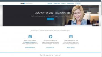 LinkedIn Ads homepage