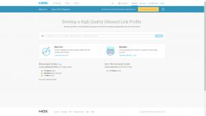 Open Site Explorer homepage