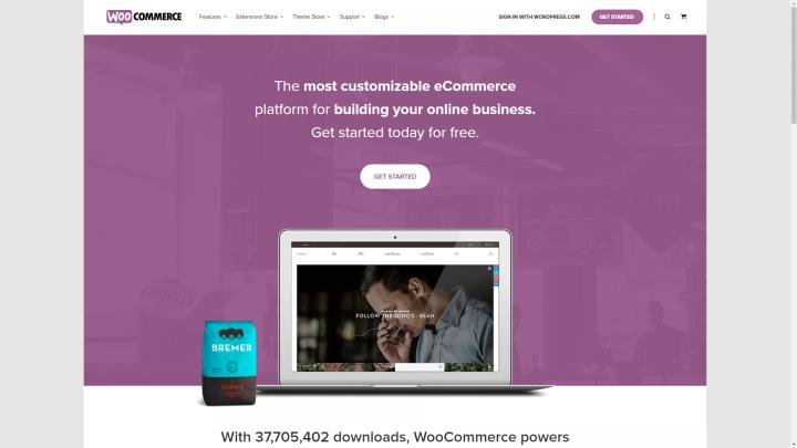 woocommerce.com homepage