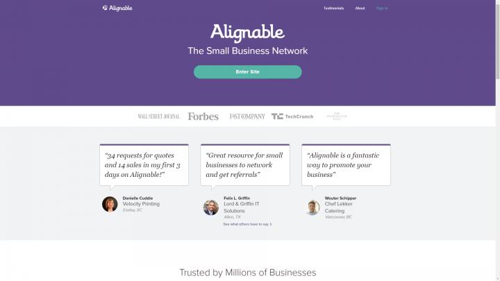 Alignable homepage