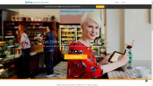 BingPlaces.com homepage