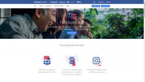 Facebook Ads homepage
