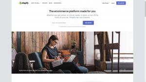 Shopfiy.com homepage