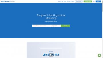 Serpstat homepage