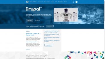Drupal.org homepage