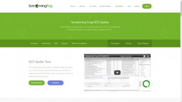 Screaming Frog homepage