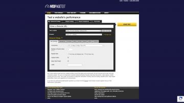WebPagetest.org homepage