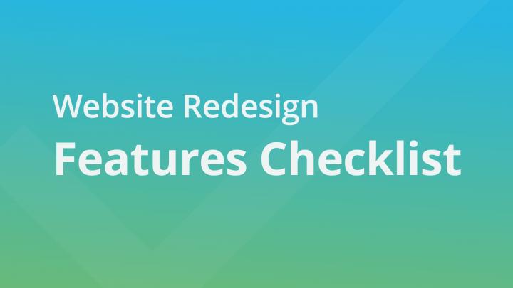 Website Redesign Features Checklist