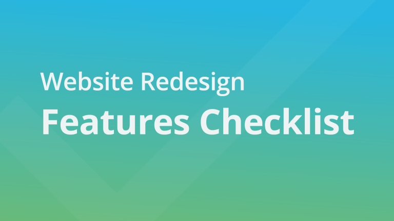 Website Redesign Features Checklist