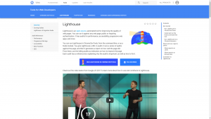 Lighthouse Google Developers page
