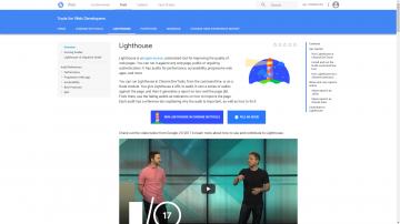 Lighthouse Google Developers page